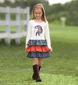 Horse Tiered Dress