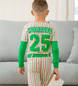 Personalized Baseball Pajamas - Green - 7