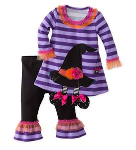 Witch's Hat Dress & Leggings Set