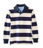 Long-Sleeve Wide Navy Stripe Stripe Polo
