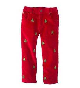 Tree Embroidered Pants