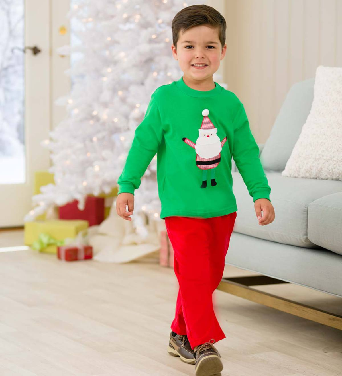 Santa Boy's Set - Green - 12M