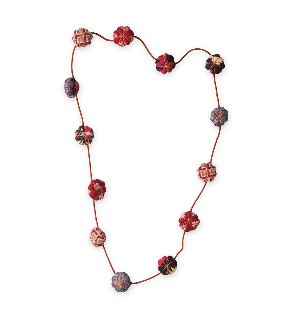 Fabric Beads Necklace - RD
