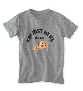 "Short-Sleeve ""I'm Just Here for the"" Pizza Tee"