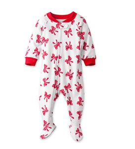 Red Bow Footed Pajamas