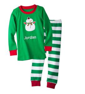 Personalized Snowman Pajamas