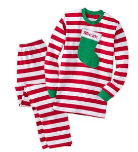 Personalized Stripe Adult Pajamas