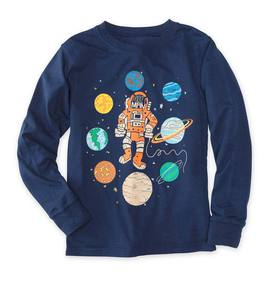 Long-Sleeve Space Man and Planets Tee