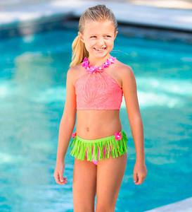 Crochet Hula Two-Piece Swimsuit