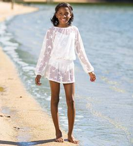 Smocked Crochet Cover-Up