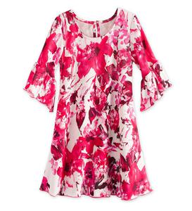 Bell-Sleeve Dress - Pink - 5/6
