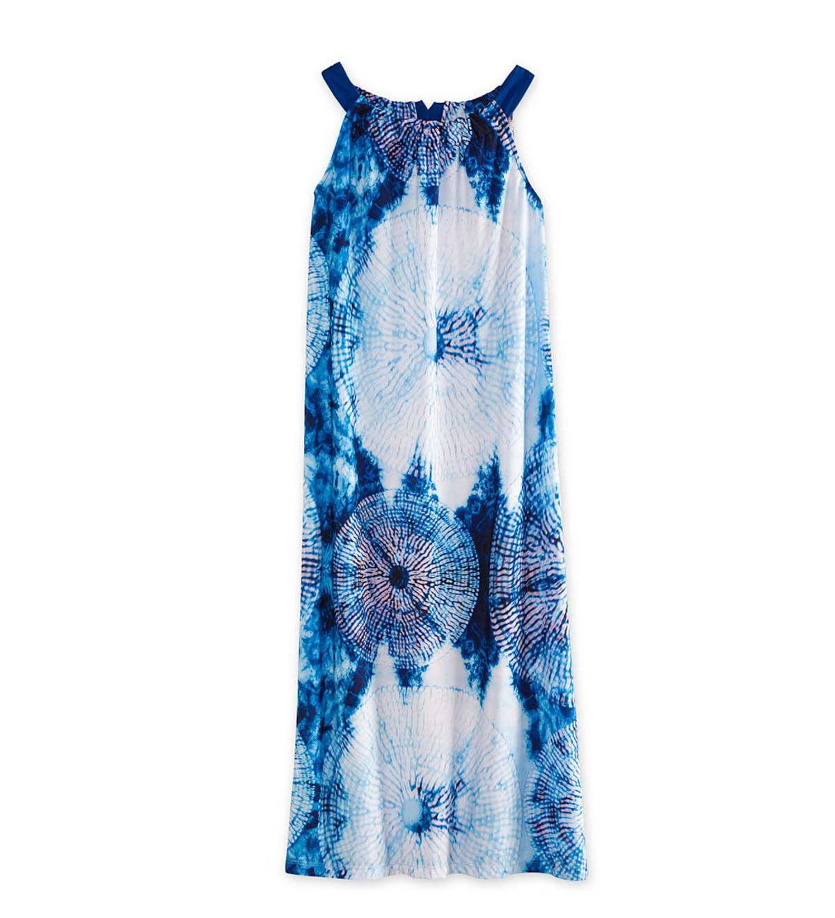 Tie Dye Maxi Dress - Navy - 4