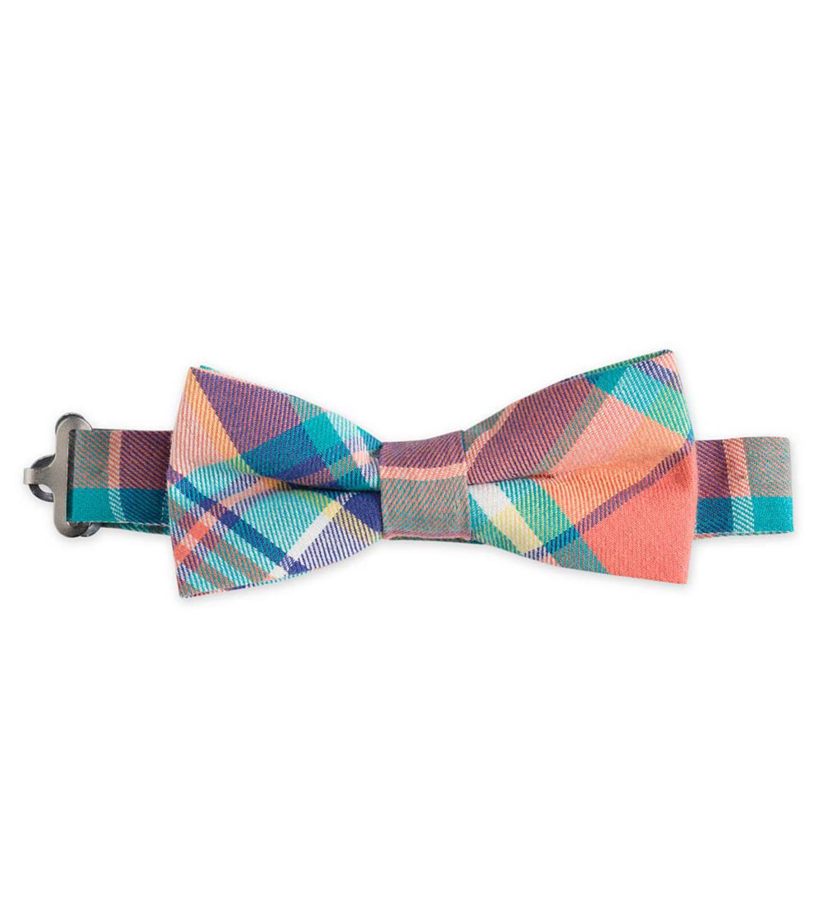Plaid Bow Tie - Pink - 1