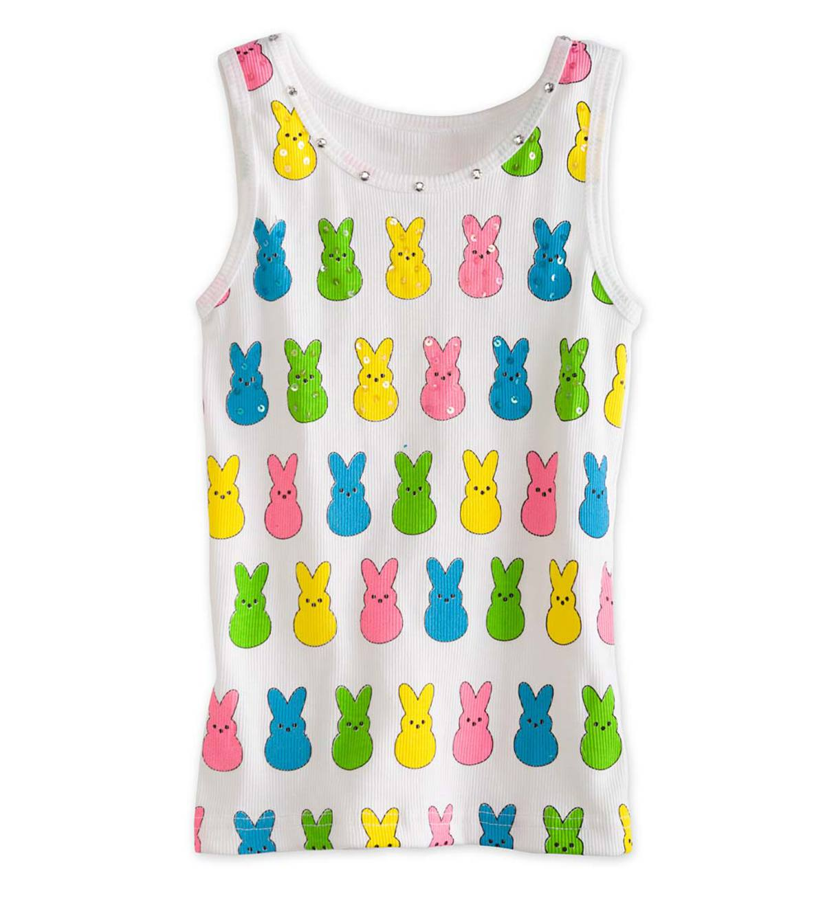 Colorful Bunny Tank - White - 5