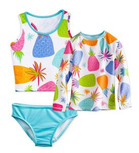 Pineapple Three-Piece Rash Guard Set