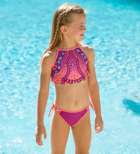 Crop Print Two-Piece Swimsuit