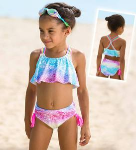 Flutter Print Two-Piece Swimsuit