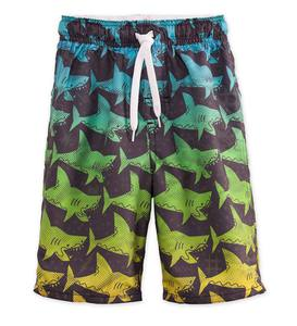 Ombre Shark Swim Trunks