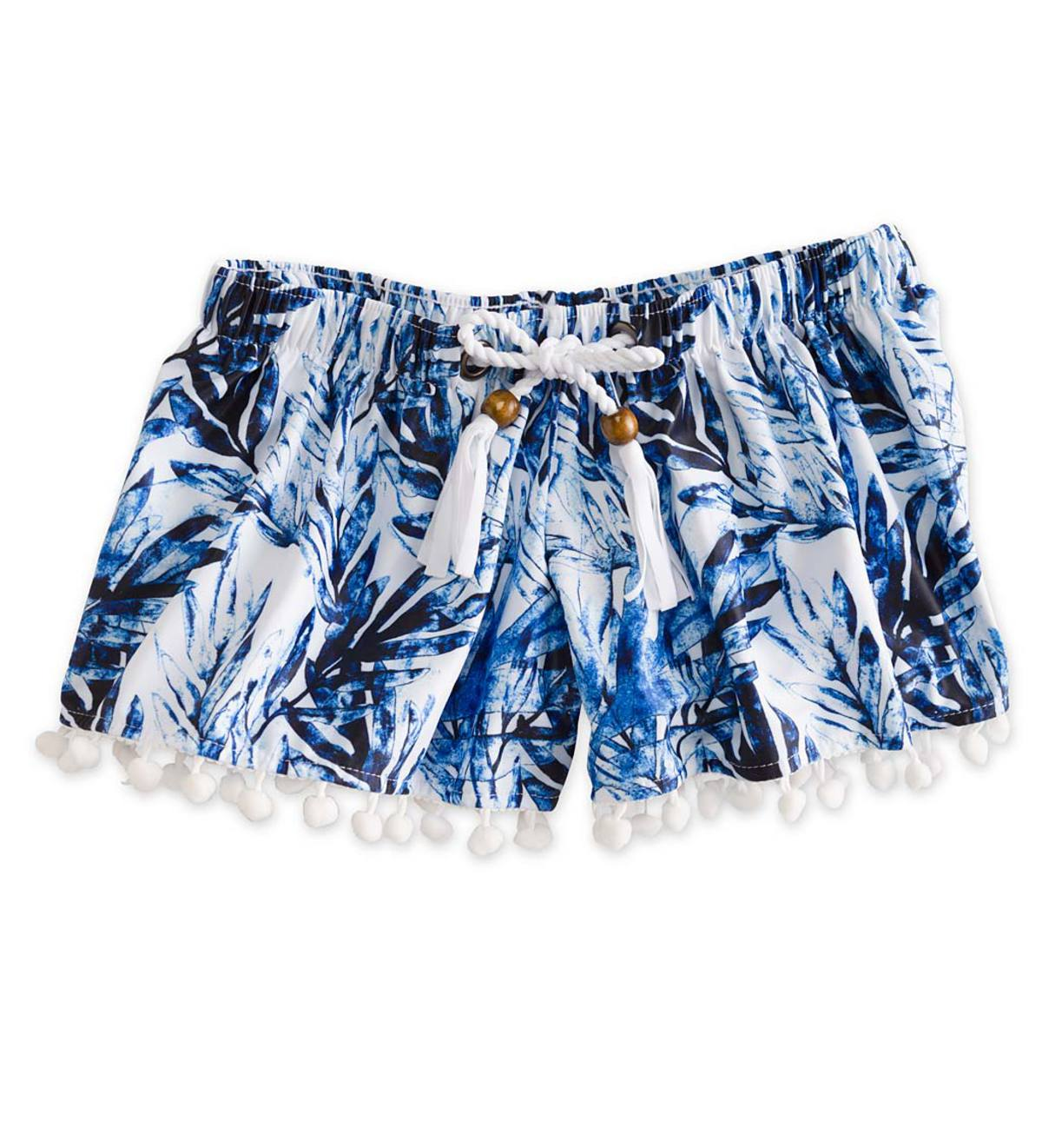 Pom Pom Swim Shorts - Blue - 2