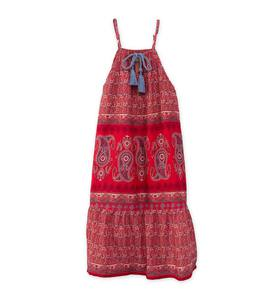 Tie-Front Paisley Dress - Red - 12
