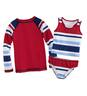 Stripe Three-Piece Rash Guard Set
