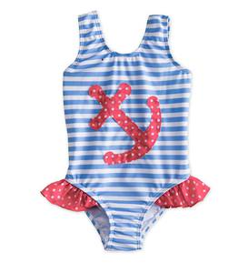 Anchor Dot Swimsuit - Blue - 18M