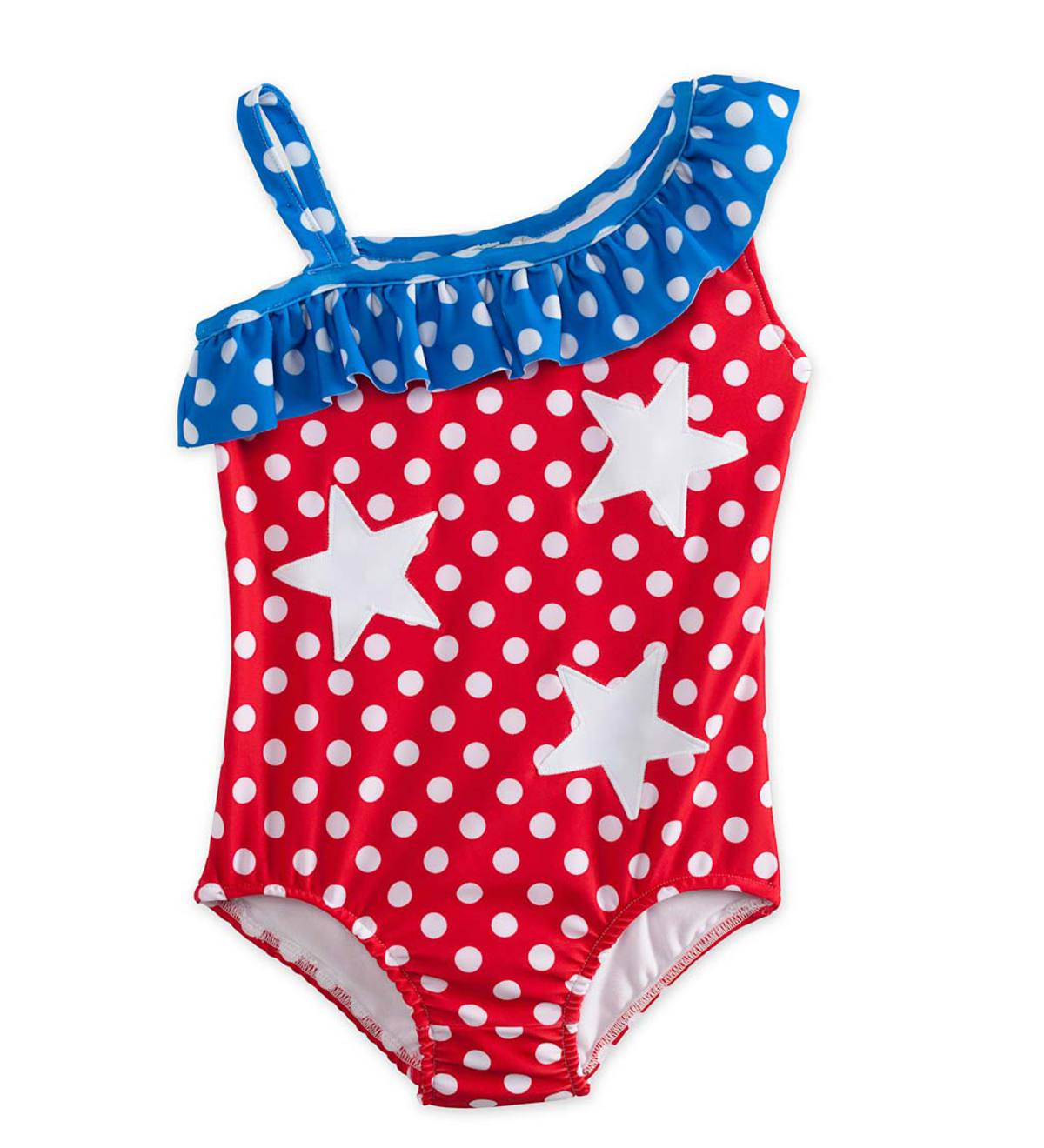 Dot Swimsuit - Blue - 2T