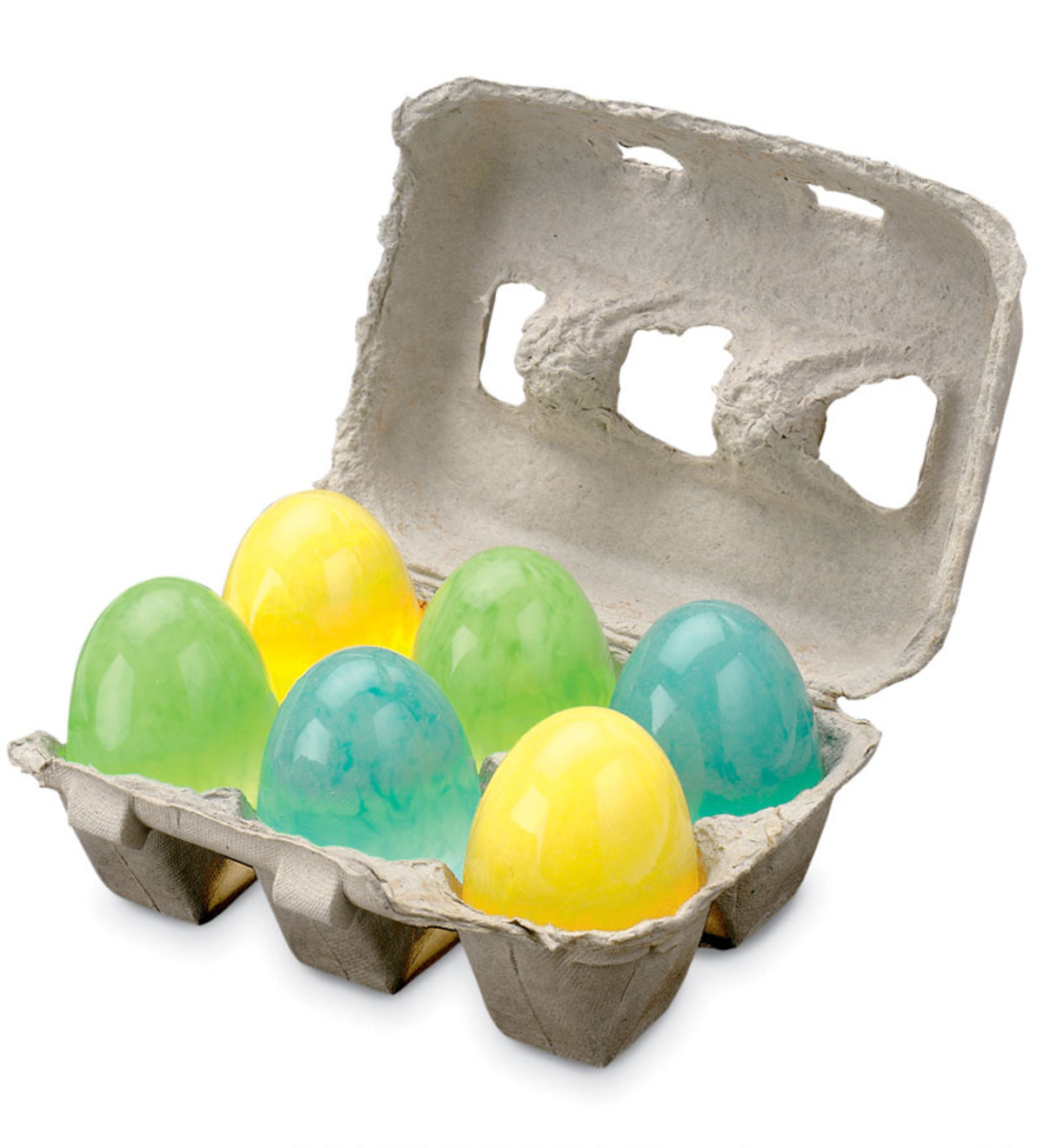 Set of 6 Glow-in-the-Dark Unbreakable Bouncing Eggs