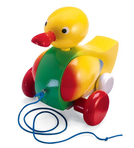 Old-Fashioned Pull-Along Quackers the Duck