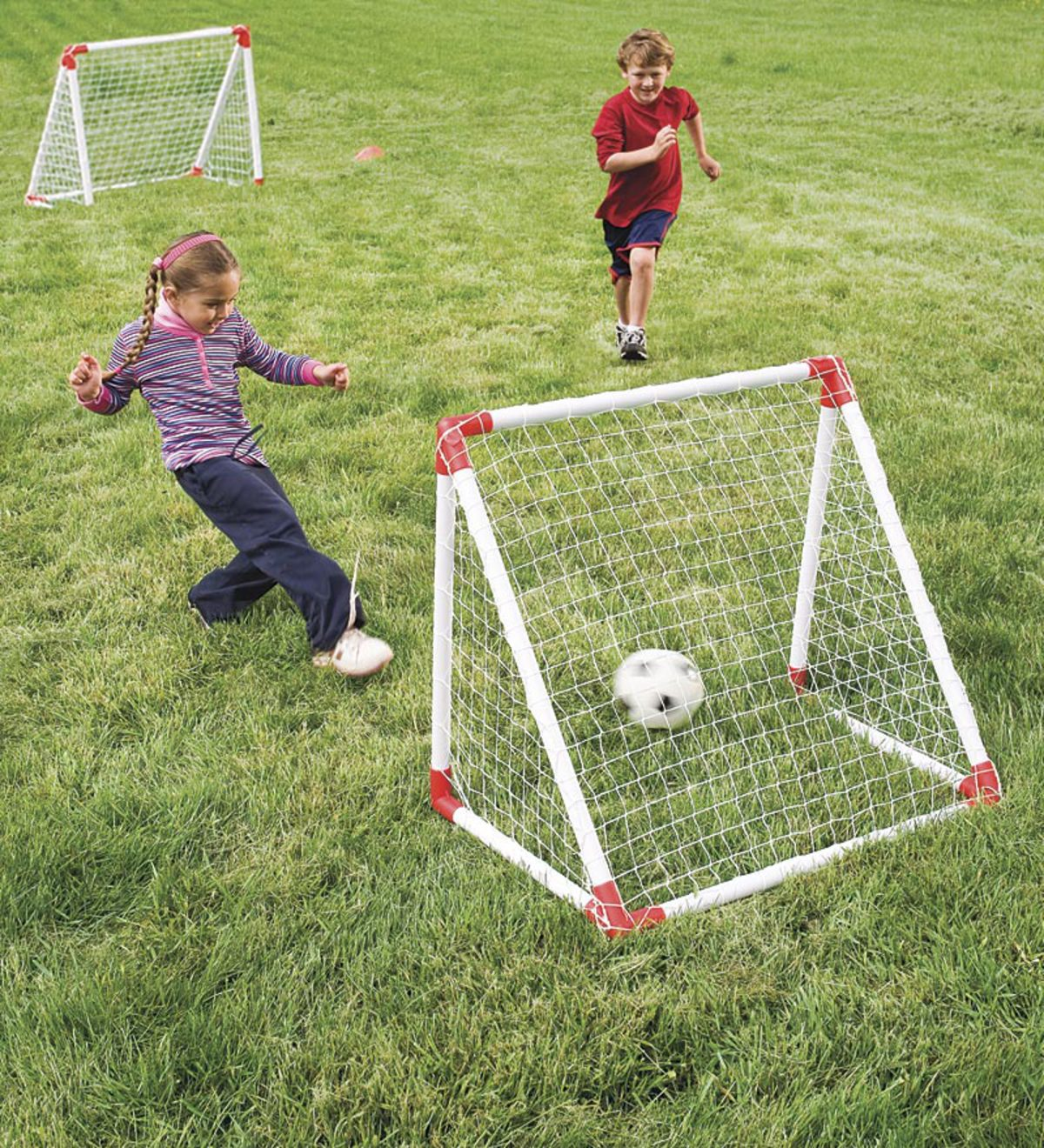 Junior Soccer Goal Set with High-Impact Vinyl Nets