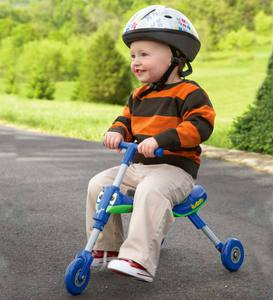 Indoor/Outdoor Blue Pedal-Free Scuttlebug Trike