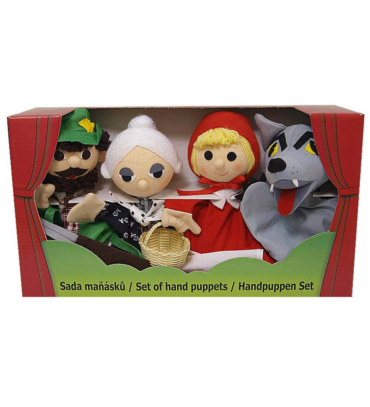 Set of 4 Red Riding Hood Hand Puppet Gift Set