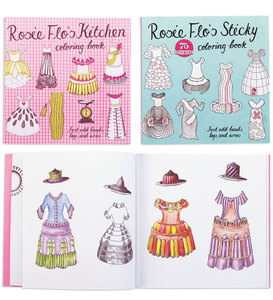 Rosie Flo Coloring Books,set of 2