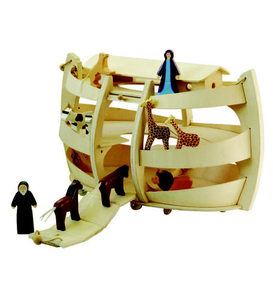 Wooden Noah's Ark and Figurines