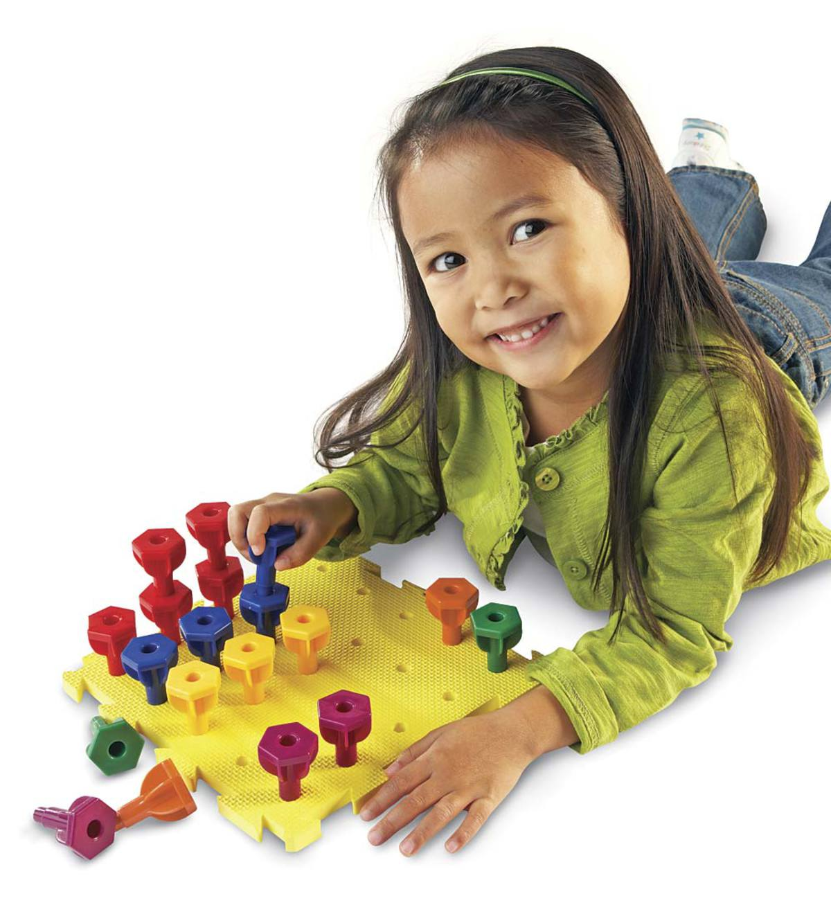 Learning Resources® Rainbow™ Stacking Pegs