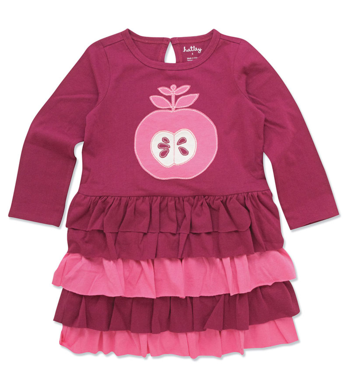 Nordic Apples Tiered Dress