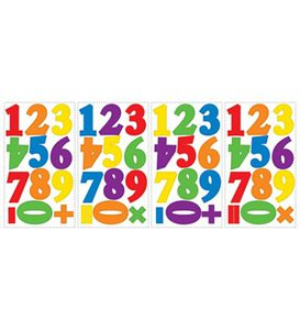 Colorful Alphabet and Number Repositionable Wall Decals