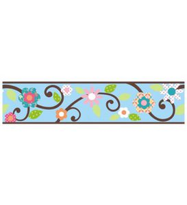 Floral Scroll Peel & Stick Repositionable Wall Decal Borders