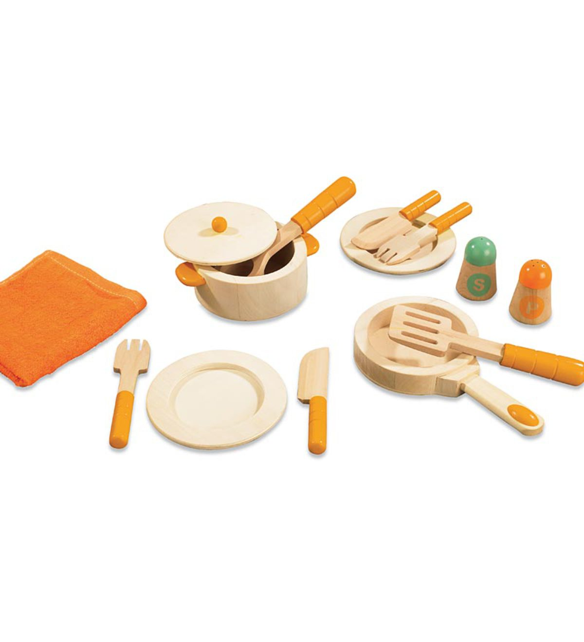 12-pc. Natural Wood Gourmet Chef Cookware Set