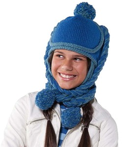 Hand-Knit Woolen Avatar Hat for Kids