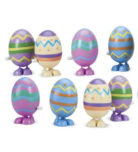 Wind-Up Hopping Eggs, set of 8