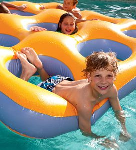 "Inflatable Labyrinth Island Pool Float (80"") by Swimline"
