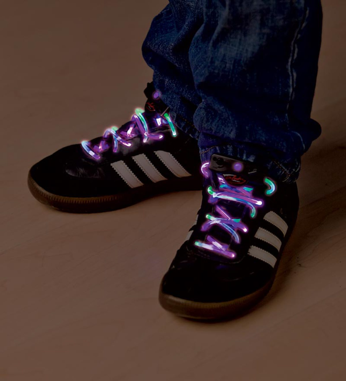 Set of 2 Two-Tone Light-Up Shoelaces
