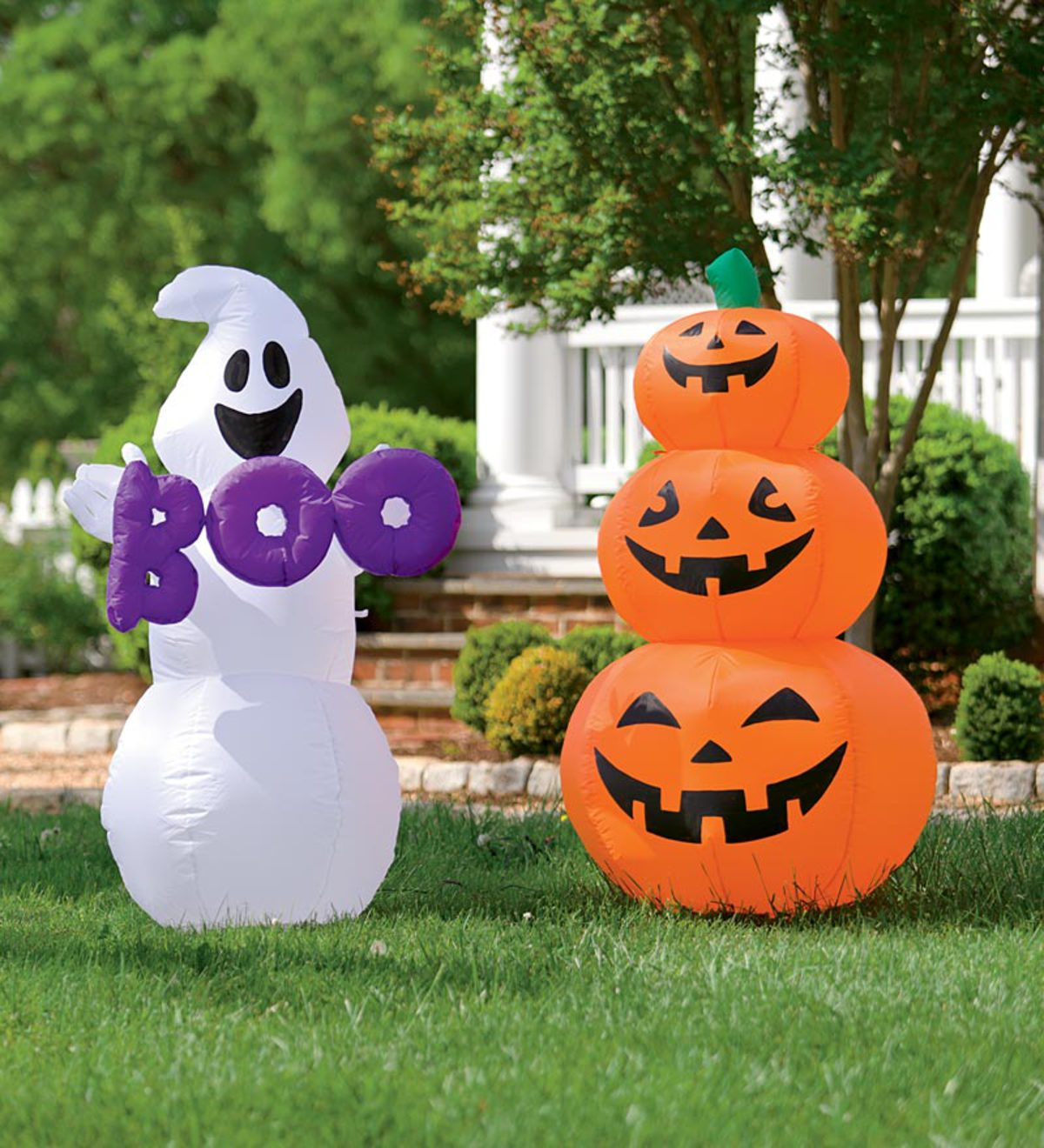 Pumpkin or Ghost Weather-Resistant Halloween Inflatable