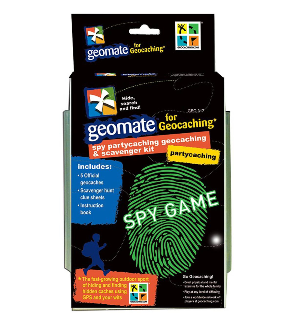 Brand 44 Geomate Jr. Spy PartyCaching Geocaching & Scavenger Hunt Kit