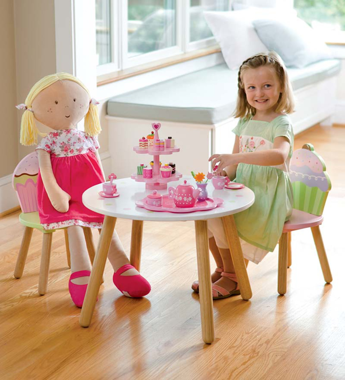 Wooden Cupcake Furniture Set