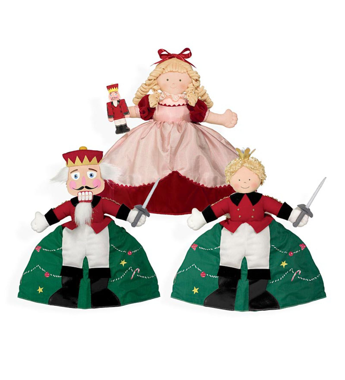 Nutcracker Prince and Clara Topsy Turvy Reversible Plush Doll