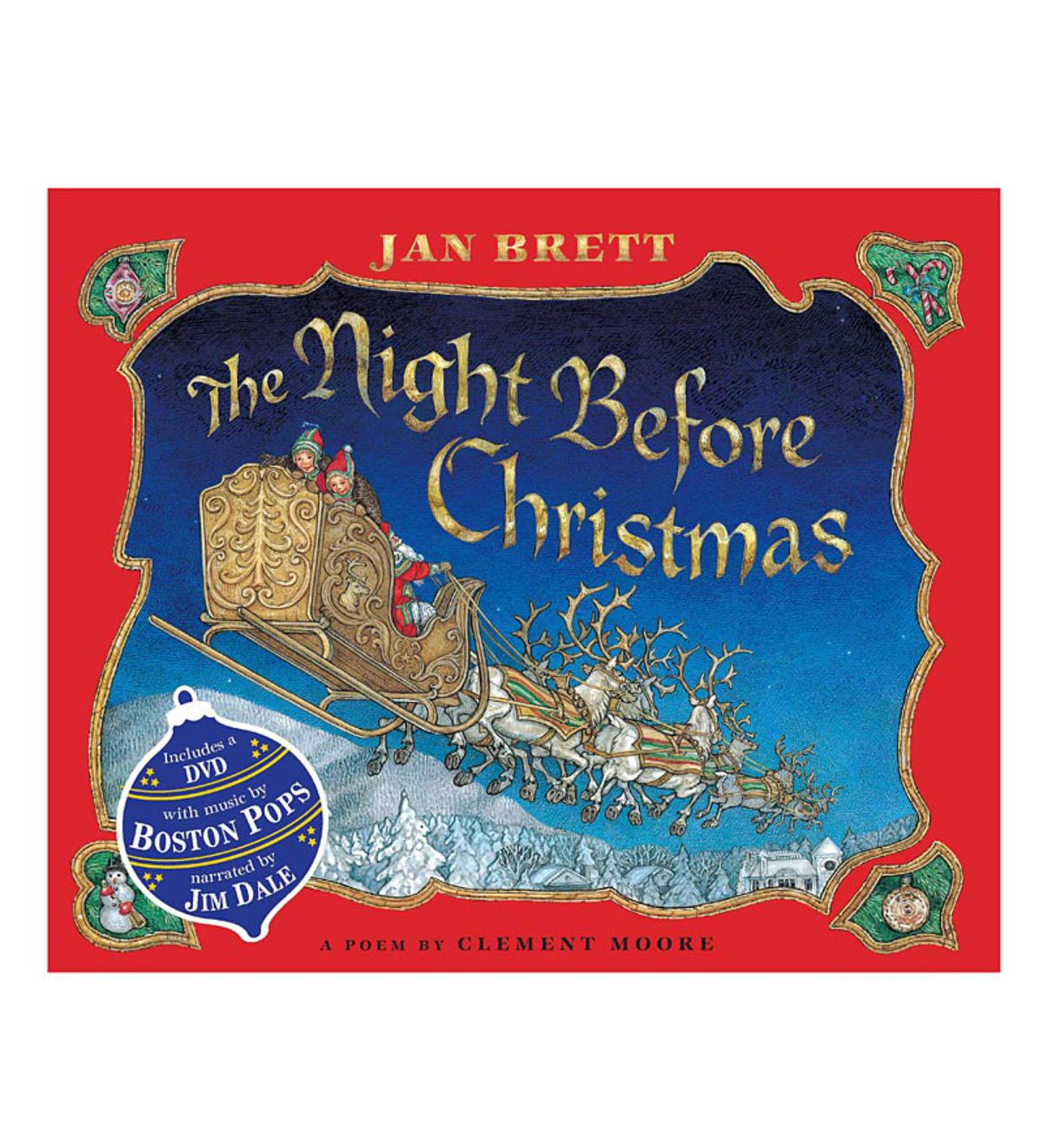 The Night Before Christmas Book and DVD Set