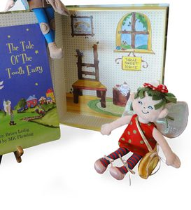 The Tale of Tooth Fairy Book, Tooth Pouch, and Fairy Doll
