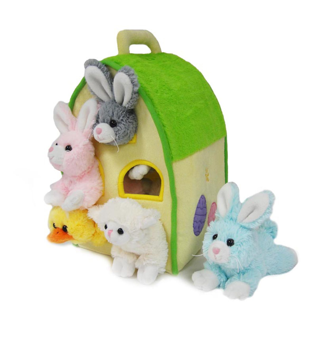 Easter Animals Plush Play House Set